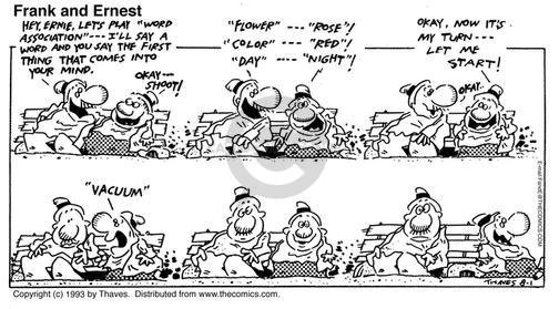 Comic Strip Bob Thaves Tom Thaves  Frank and Ernest 1993-08-01 word game