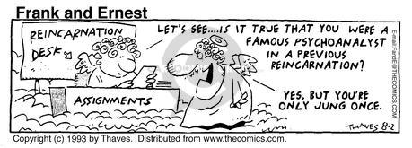 Cartoonist Bob Thaves Tom Thaves  Frank and Ernest 1993-08-02 sky