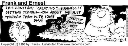 Comic Strip Bob Thaves Tom Thaves  Frank and Ernest 1993-08-13 cloud