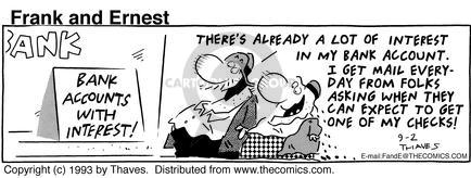Comic Strip Bob Thaves Tom Thaves  Frank and Ernest 1993-09-02 personal finance