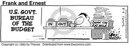 Comic Strip Bob Thaves Tom Thaves  Frank and Ernest 1993-09-04 employee