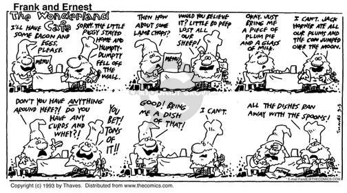 Comic Strip Bob Thaves Tom Thaves  Frank and Ernest 1993-09-05 sheep