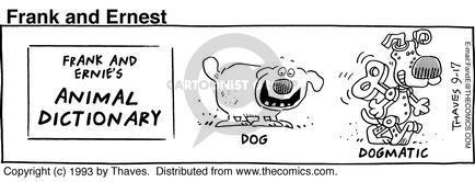Comic Strip Bob Thaves Tom Thaves  Frank and Ernest 1993-09-17 doctrine