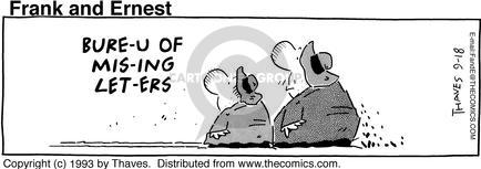 Comic Strip Bob Thaves Tom Thaves  Frank and Ernest 1993-09-18 misplace