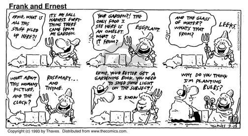 Comic Strip Bob Thaves Tom Thaves  Frank and Ernest 1993-09-19 grow up