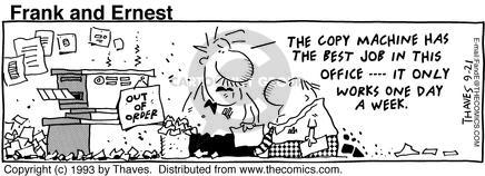 Comic Strip Bob Thaves Tom Thaves  Frank and Ernest 1993-09-21 equipment