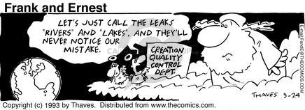 Comic Strip Bob Thaves Tom Thaves  Frank and Ernest 1993-09-24 cloud