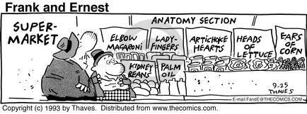 Cartoonist Bob Thaves Tom Thaves  Frank and Ernest 1993-09-25 supermarket