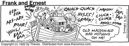 Comic Strip Bob Thaves Tom Thaves  Frank and Ernest 1993-09-30 bible story
