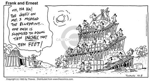 Comic Strip Bob Thaves Tom Thaves  Frank and Ernest 1993-10-03 building design