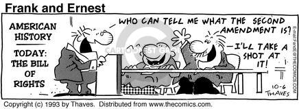 Comic Strip Bob Thaves Tom Thaves  Frank and Ernest 1993-10-06 second amendment