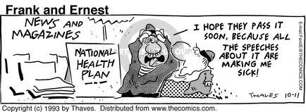 Cartoonist Bob Thaves Tom Thaves  Frank and Ernest 1993-10-11 ill