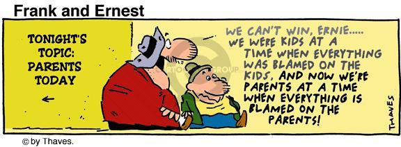 Comic Strip Bob Thaves Tom Thaves  Frank and Ernest 1993-10-14 kid