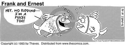 Comic Strip Bob Thaves Tom Thaves  Frank and Ernest 1993-10-16 astrological sign