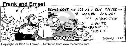 Comic Strip Bob Thaves Tom Thaves  Frank and Ernest 1993-10-20 sign language