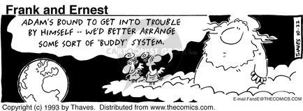 Cartoonist Bob Thaves Tom Thaves  Frank and Ernest 1993-10-22 couple