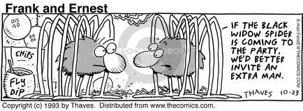 Comic Strip Bob Thaves Tom Thaves  Frank and Ernest 1993-10-23 better