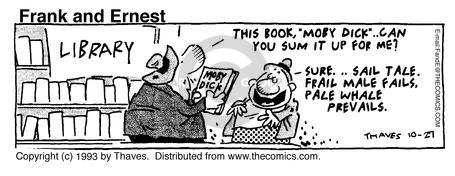 Cartoonist Bob Thaves Tom Thaves  Frank and Ernest 1993-10-27 library