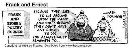 Comic Strip Bob Thaves Tom Thaves  Frank and Ernest 1993-10-29 chore