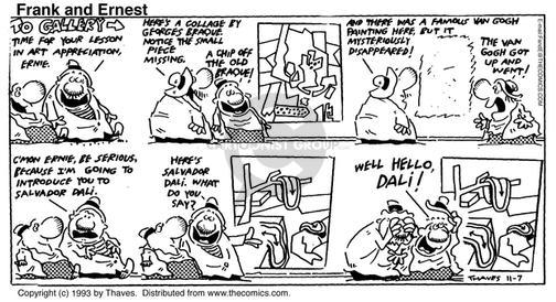 Comic Strip Bob Thaves Tom Thaves  Frank and Ernest 1993-11-07 theater