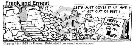 Comic Strip Bob Thaves Tom Thaves  Frank and Ernest 1993-11-09 orbit