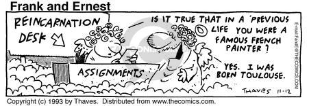 Comic Strip Bob Thaves Tom Thaves  Frank and Ernest 1993-11-12 sky
