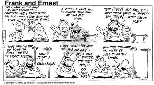 Cartoonist Bob Thaves Tom Thaves  Frank and Ernest 1993-11-14 bad