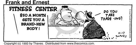 Comic Strip Bob Thaves Tom Thaves  Frank and Ernest 1993-11-17 language class