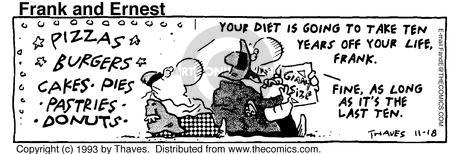 Comic Strip Bob Thaves Tom Thaves  Frank and Ernest 1993-11-18 personal finance