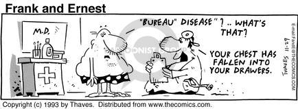 Comic Strip Bob Thaves Tom Thaves  Frank and Ernest 1993-11-29 exam