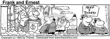 Comic Strip Bob Thaves Tom Thaves  Frank and Ernest 1993-11-30 sky