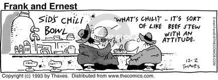 Comic Strip Bob Thaves Tom Thaves  Frank and Ernest 1993-12-02 spicy food