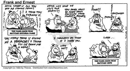 Comic Strip Bob Thaves Tom Thaves  Frank and Ernest 1993-12-05 stock market
