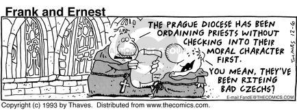 Comic Strip Bob Thaves Tom Thaves  Frank and Ernest 1993-12-06 congregation