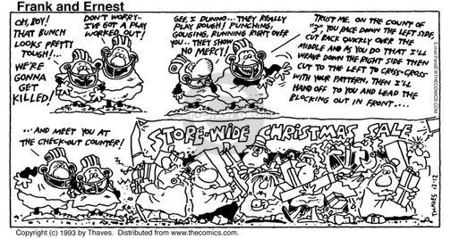 Comic Strip Bob Thaves Tom Thaves  Frank and Ernest 1993-12-12 rough