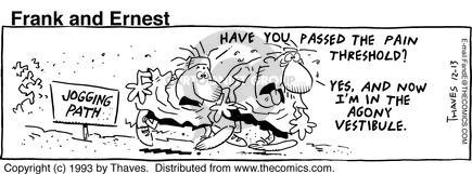 Comic Strip Bob Thaves Tom Thaves  Frank and Ernest 1993-12-13 jogging