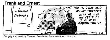 Comic Strip Bob Thaves Tom Thaves  Frank and Ernest 1993-12-14 fabricate