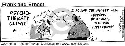 Cartoonist Bob Thaves Tom Thaves  Frank and Ernest 1993-12-20 couple