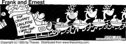 Comic Strip Bob Thaves Tom Thaves  Frank and Ernest 1993-12-24 sky