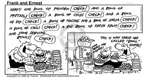 Cartoonist Bob Thaves Tom Thaves  Frank and Ernest 1993-12-26 football game