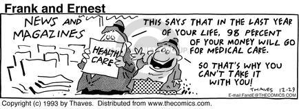 Comic Strip Bob Thaves Tom Thaves  Frank and Ernest 1993-12-29 percent