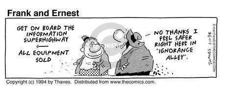 Comic Strip Bob Thaves Tom Thaves  Frank and Ernest 1994-01-01 computer
