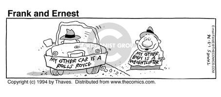 Comic Strip Bob Thaves Tom Thaves  Frank and Ernest 1994-01-03 sign