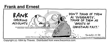 Cartoonist Bob Thaves Tom Thaves  Frank and Ernest 1994-01-04 counter