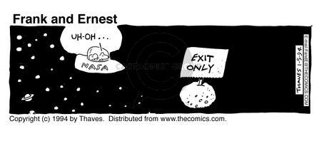 Comic Strip Bob Thaves Tom Thaves  Frank and Ernest 1994-01-05 sign