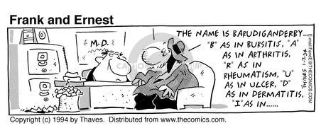 Comic Strip Bob Thaves Tom Thaves  Frank and Ernest 1994-01-07 IRS