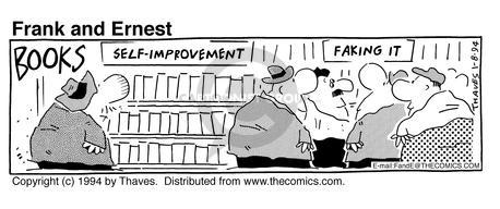 Comic Strip Bob Thaves Tom Thaves  Frank and Ernest 1994-01-08 shop