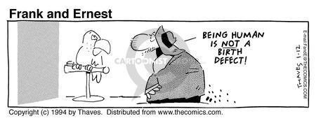 Comic Strip Bob Thaves Tom Thaves  Frank and Ernest 1994-01-12 animal kingdom