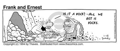Cartoonist Bob Thaves Tom Thaves  Frank and Ernest 1994-01-15 counter