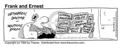 Comic Strip Bob Thaves Tom Thaves  Frank and Ernest 1994-01-19 lifestyle